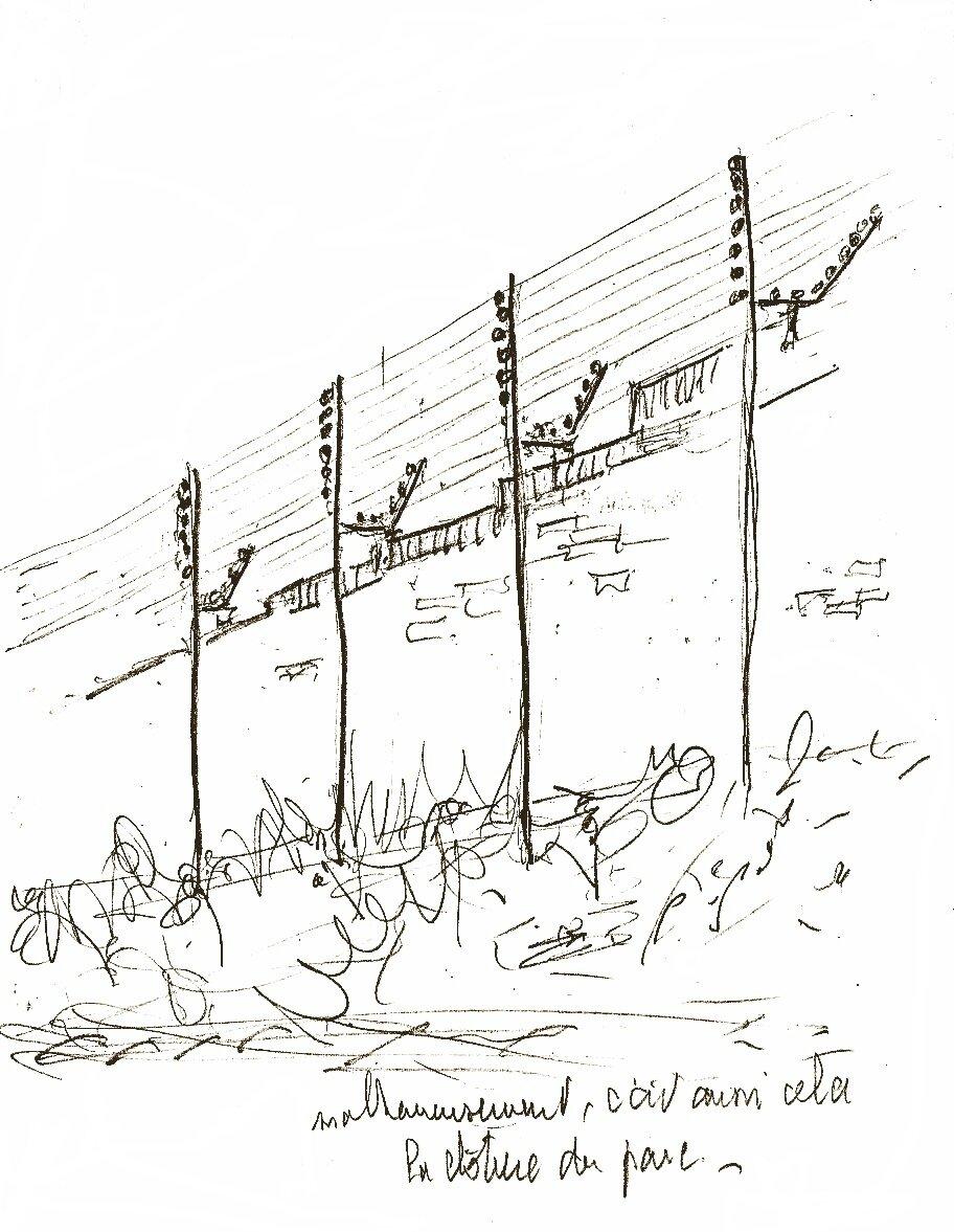 La clôture du compound