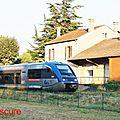 Originale succession de livrées sur la ligne carcassonne-quillan