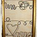 cadre porte bijou fil de fer coeur