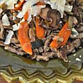 Spätzle de sarrasin et poêlée automnale aux cèpes