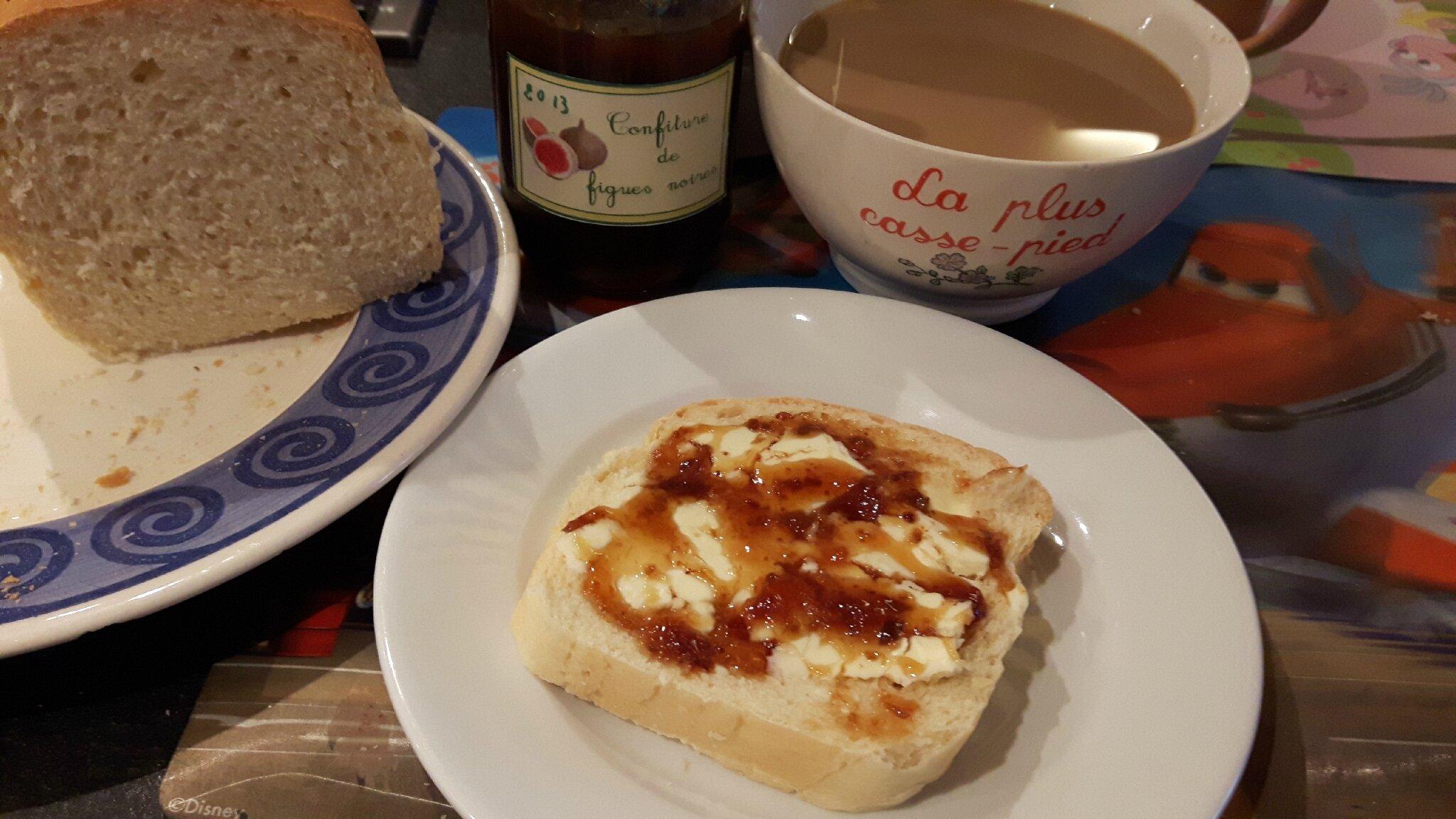 Le pain de mie du petit déjeuner de l'ami...