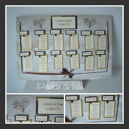 plan de table mariage original tous les messages sur plan de table mariage original l. Black Bedroom Furniture Sets. Home Design Ideas