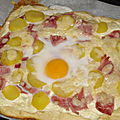 Pizza jambon/boursin