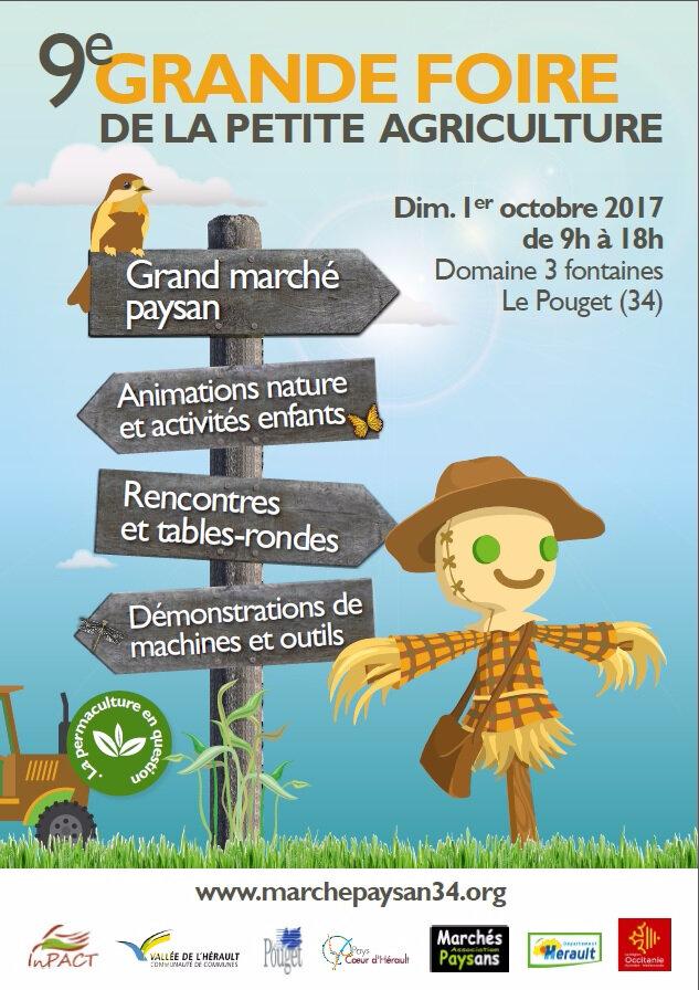 Retrouvez Les Jardins De Tara le dimanche 1er octobre sur la Grande Foire à la Petite Agriculture du Pouget (34)