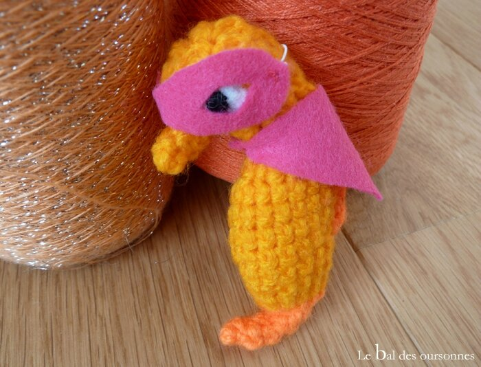 88 Blog Crochet amigurumi Hippocampe Masque Cape