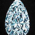 The portrait of perfection - a pear shaped diamond painting by reena ahluwalia