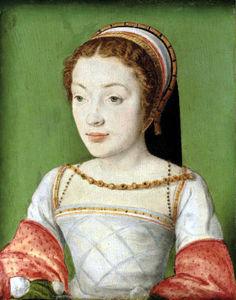 Dame par Corneille de Lyon (Christies)