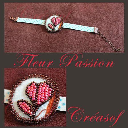bracelet fleur passion