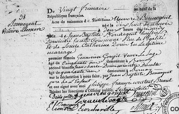 Victorine Bonnegent 1808 1 08