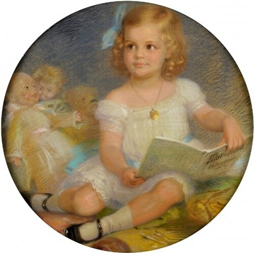 Beckert Paul girl-with-book-the-book-of-fairy-tales