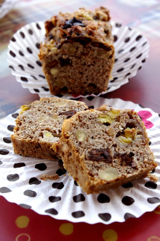 vegan banana bread cake la banane cacahu tes et p pites de chocolat 100 v g tal. Black Bedroom Furniture Sets. Home Design Ideas