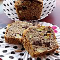 Vegan banana bread - cake  la banane, cacahutes et ppites de chocolat - 100% vgtal