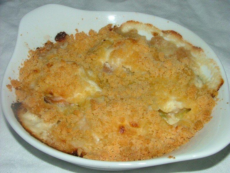 Crumble de st jacques en cassolette ad cuisine - Cassolette de saint jacques sur lit de poireaux ...