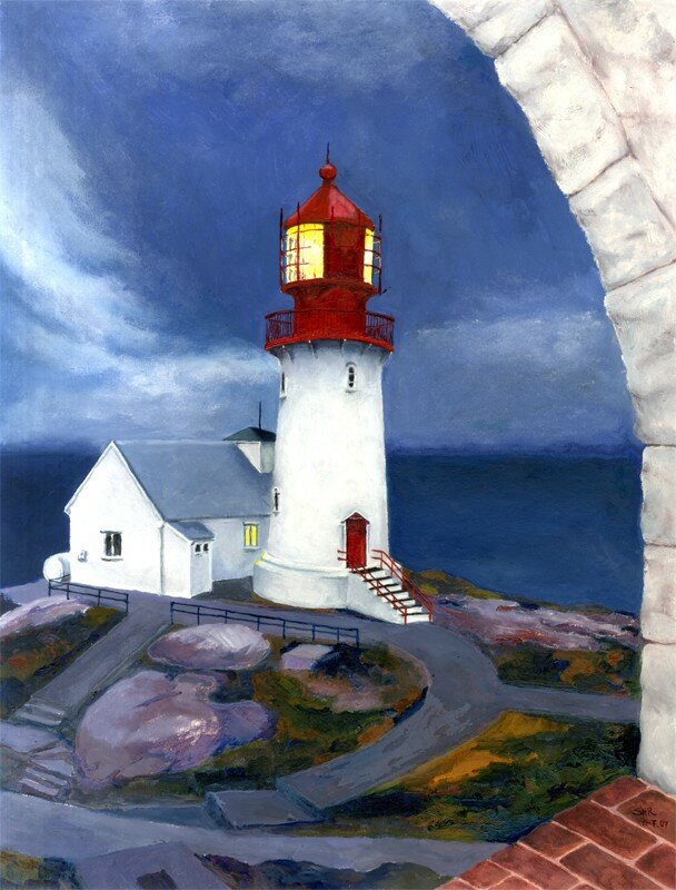 Lighthouses: Lindesnes Fyr Norwegen