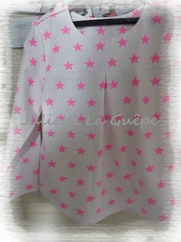 Bubble pli creux étoiles roses 2