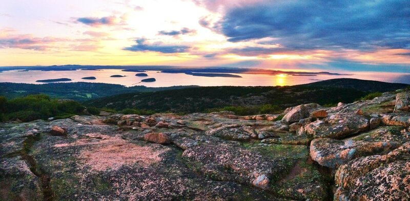 Sunrise on top of Cadillac Mountain Acadia ME 1302 639 OC