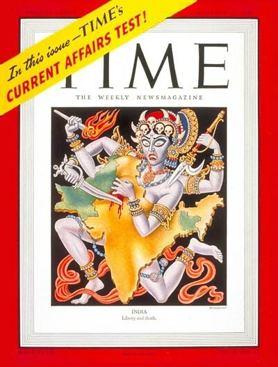 Couverture-du-Time-en-1947-sur-la-partition-des-Indes