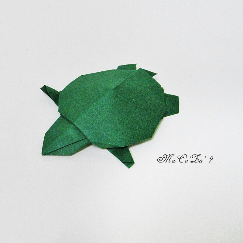 Tortue en papier origami