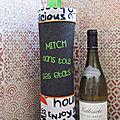 porte bouteille de vin ou champagne gris et vert