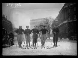 skieurs à Paris 1938