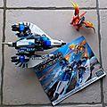 Mega bloks - dragons universe - véhicule de l'alliance et dragon predavors