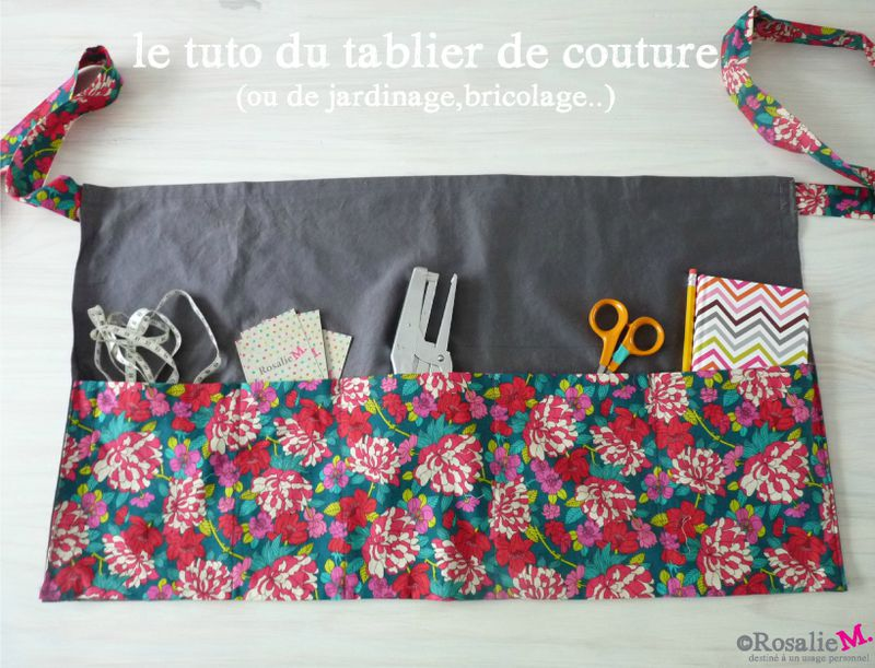 tuto du tablier de couture ou de jardinage de bricolage dessinatrice textile et cr atrice. Black Bedroom Furniture Sets. Home Design Ideas