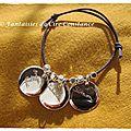 11b Bracelet médailles gravées perles argent-2