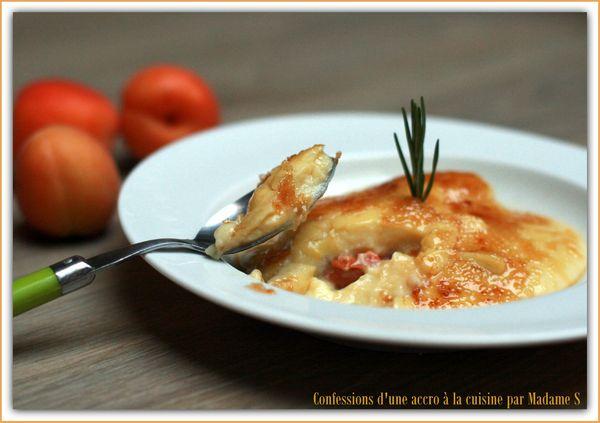 Crème catalane au romarin, abricots rôtis 034