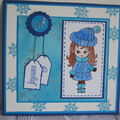 Carte Noël bleue
