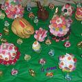 Paysage de Pâques en bonbons