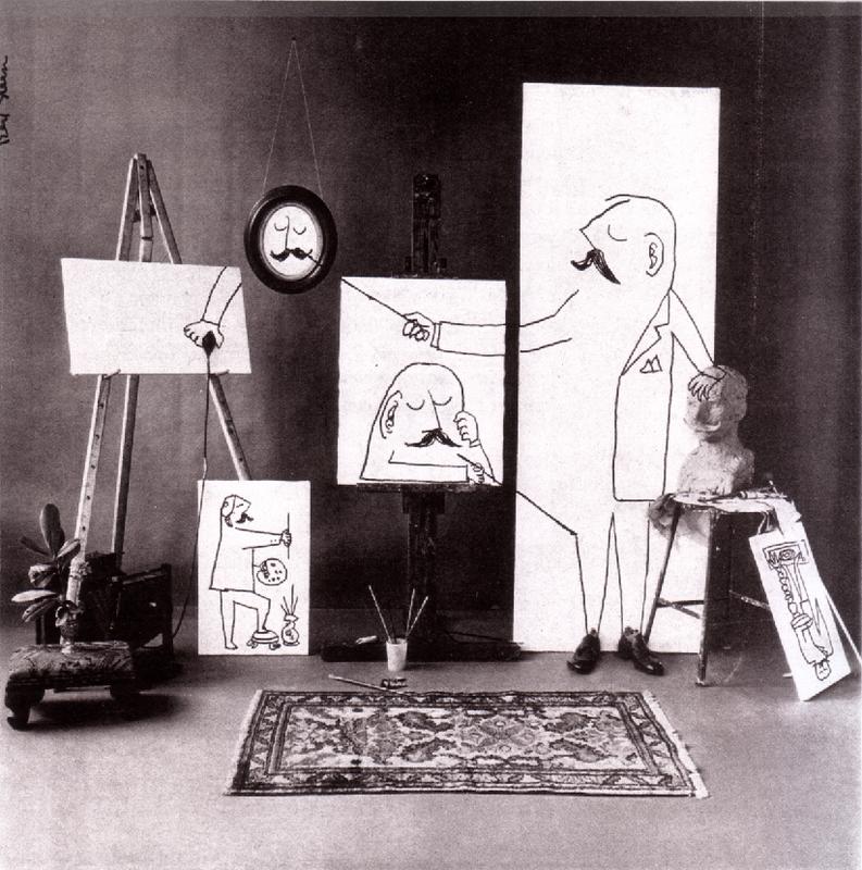 saul steinberg autoportrait