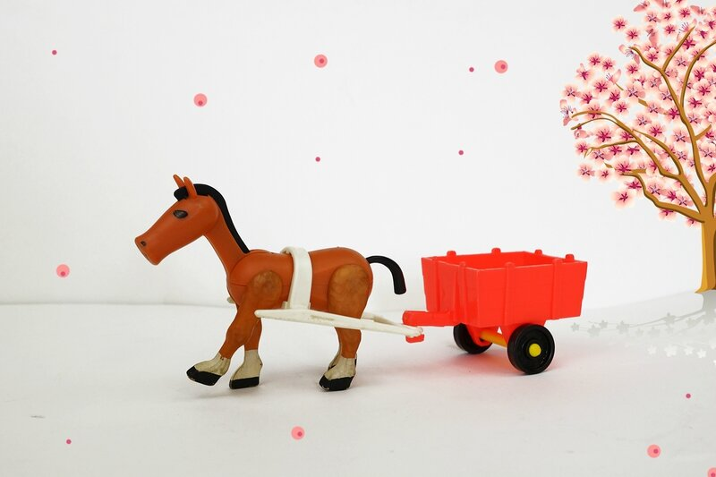 Le cheval et son attelage Fisher Price