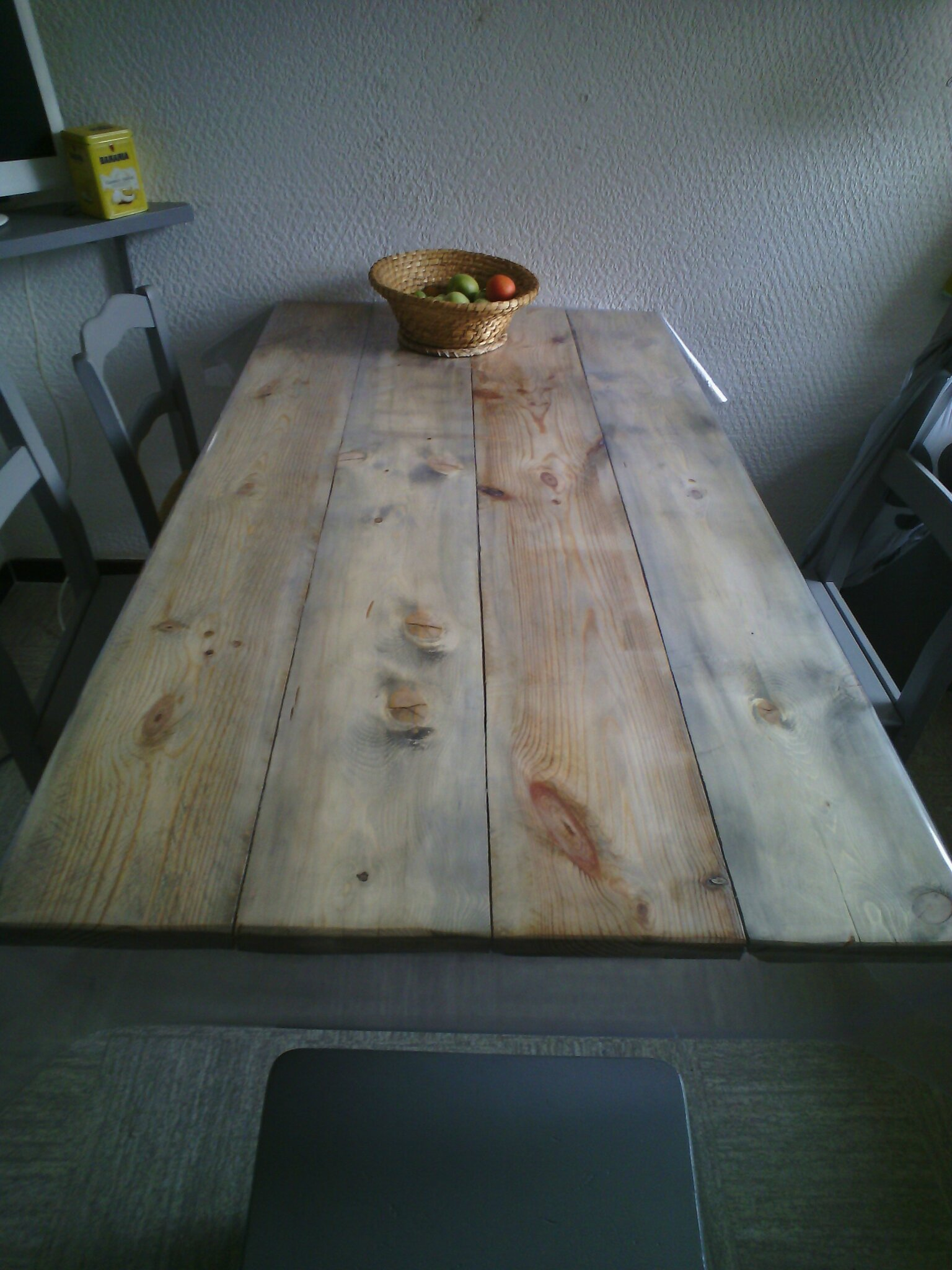 Ma table de cuisine relook e le bricolage ma passion - Table en planche de coffrage ...