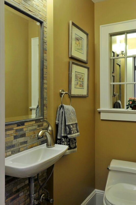 Superb-Window-Pane-Mirror-mode-New-York-Contemporary-Bathroom-Decorating-ideas-with-gold-bathroom-hall-bath-mirror-powder-room-small-bathroom-stone-Tile-yellow-bathroom-