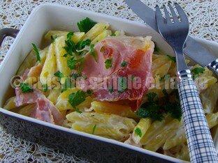 pâtes gorgonzola et jambon cru 04
