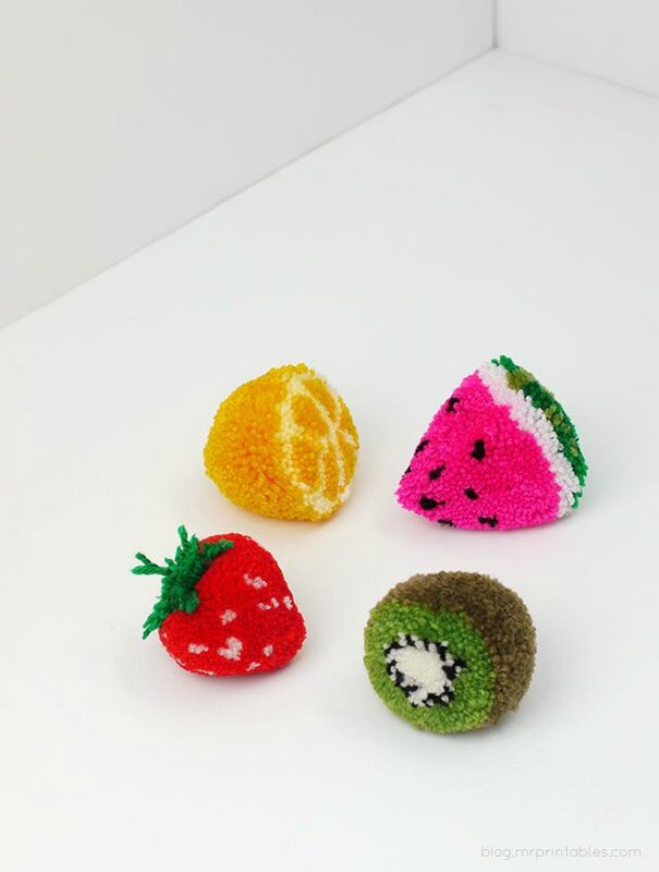 les fruits pomponnés DIY