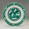 Iznik dish decorated with animals, turkey, circa 1585