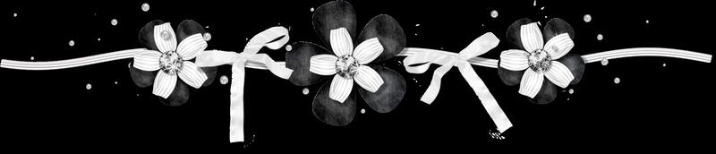 scrap 6 noir blanc gris fleurs ruban étoiles perles (chantaloudecoblog