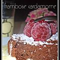 Gteau moelleux chocolat / framboise / cardamome, nouvelles photos...