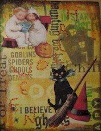 351 - Halloween Atc faites avec images imposées