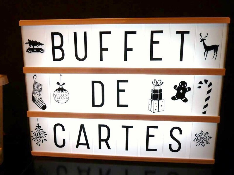 buffet de cartes noel