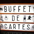 Invitation : buffet de cartes