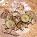 Escalopes de poulet au miel et raisins secs