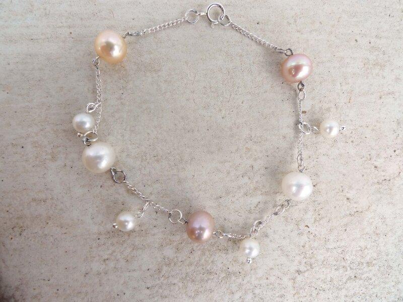 Bracelet en Argent 925m° et perles de culture