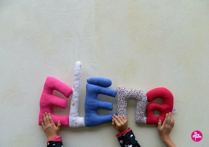 elena 2,mot en tissu,mot decoratif,cadeau de naissance,decoration chambre d'enfant,cadeau personnalise,cadeau original,poc a poc blog