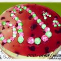 ENTREMETS DUO CERISES / PISTACHES ( recette C . FELDER )