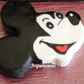 Gâteau tête de Mickey profil