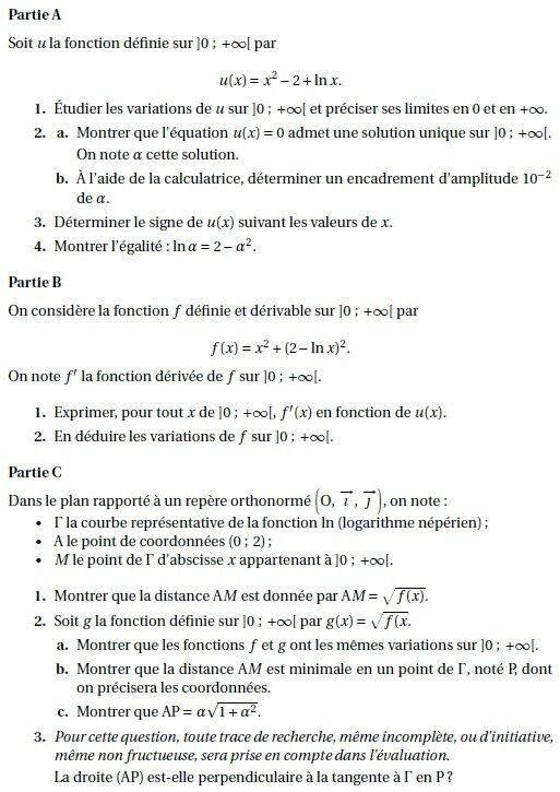 """Résultat de recherche d'images pour """"bac fonction logarithme terminale s"""""""