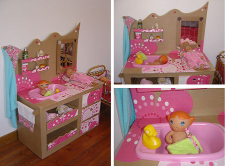 Table langer pour les poup es photo de kids d co lilette et ciboulette - Table a langer pour poupee ...