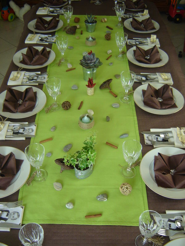D co de table anniversaire zen pictures to pin on pinterest for Decoration de table zen bambou